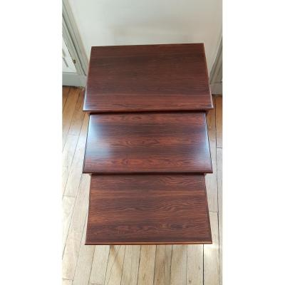 Scandinavian Rosewood Nesting Coffee Table
