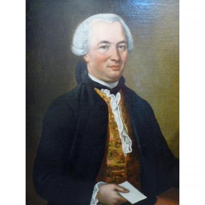 Ecole Anglaise Vers 1780, Portrait d'un Lord, Huile Sur Toile.