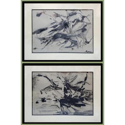 Compositions abstraites de Suzanne VIGNE