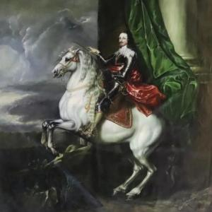 Grande Toile Début XXe d'Après Antoon Van Dyck