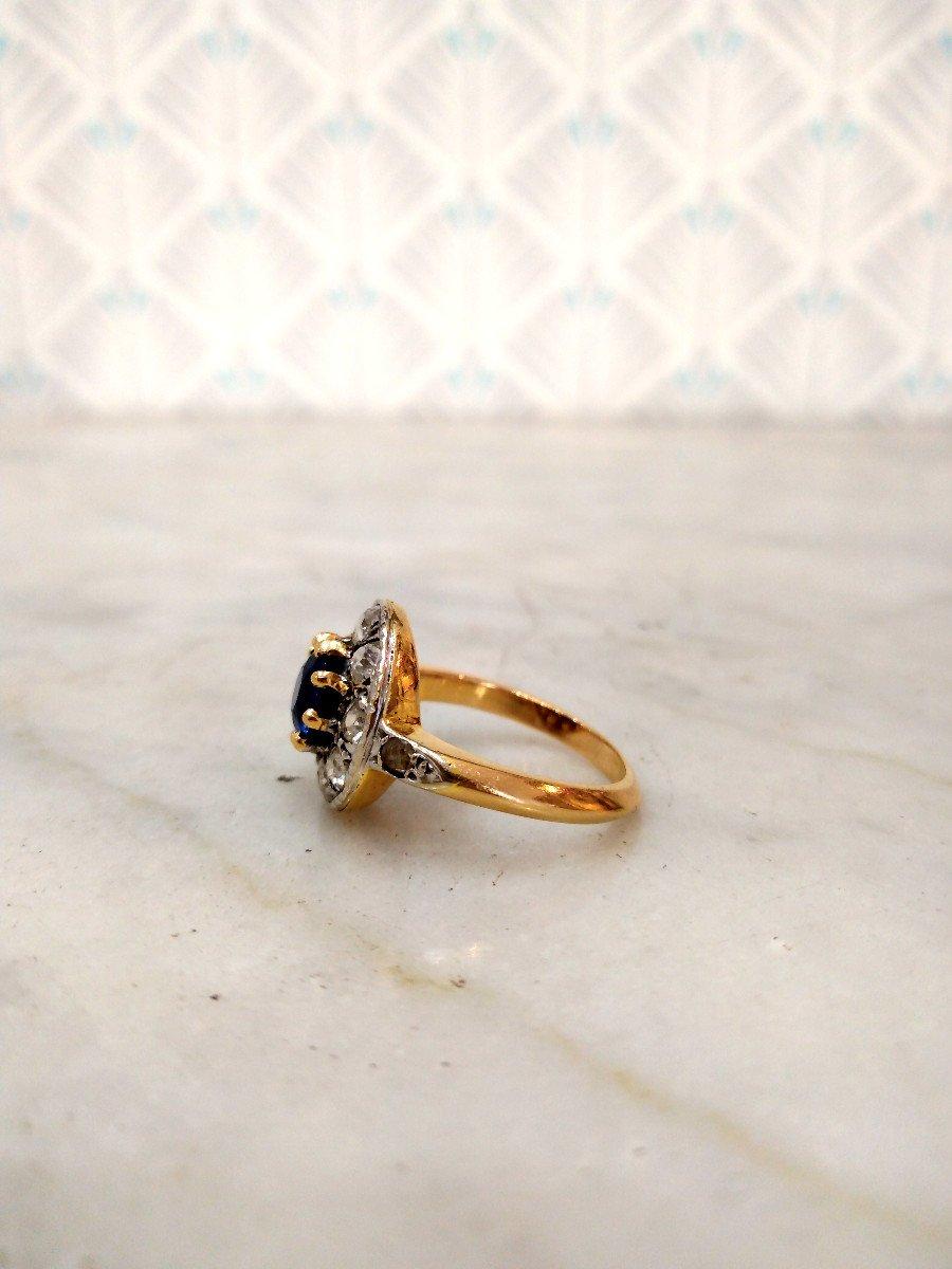 Pompadour Sapphire Diamonds Ring-photo-1