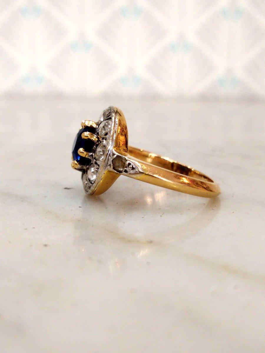 Pompadour Sapphire Diamonds Ring-photo-3