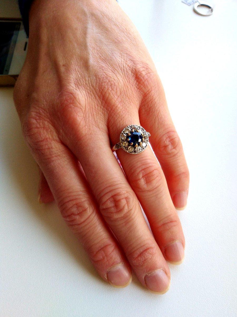 Pompadour Sapphire Diamonds Ring-photo-6