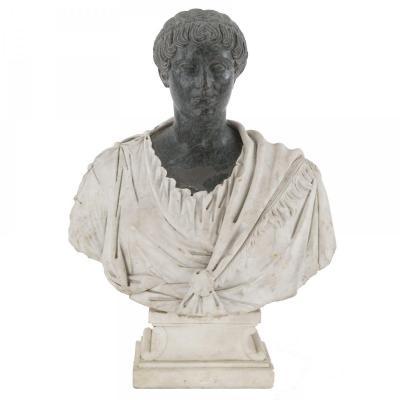 Sculpture En Marbre Du XVIIIème Siècle, Matrone Romaine