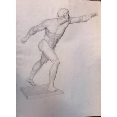 Academic Drawing Of The Gladiator - 1802 -