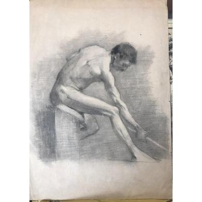 19th Century Academic Pencil Drawing