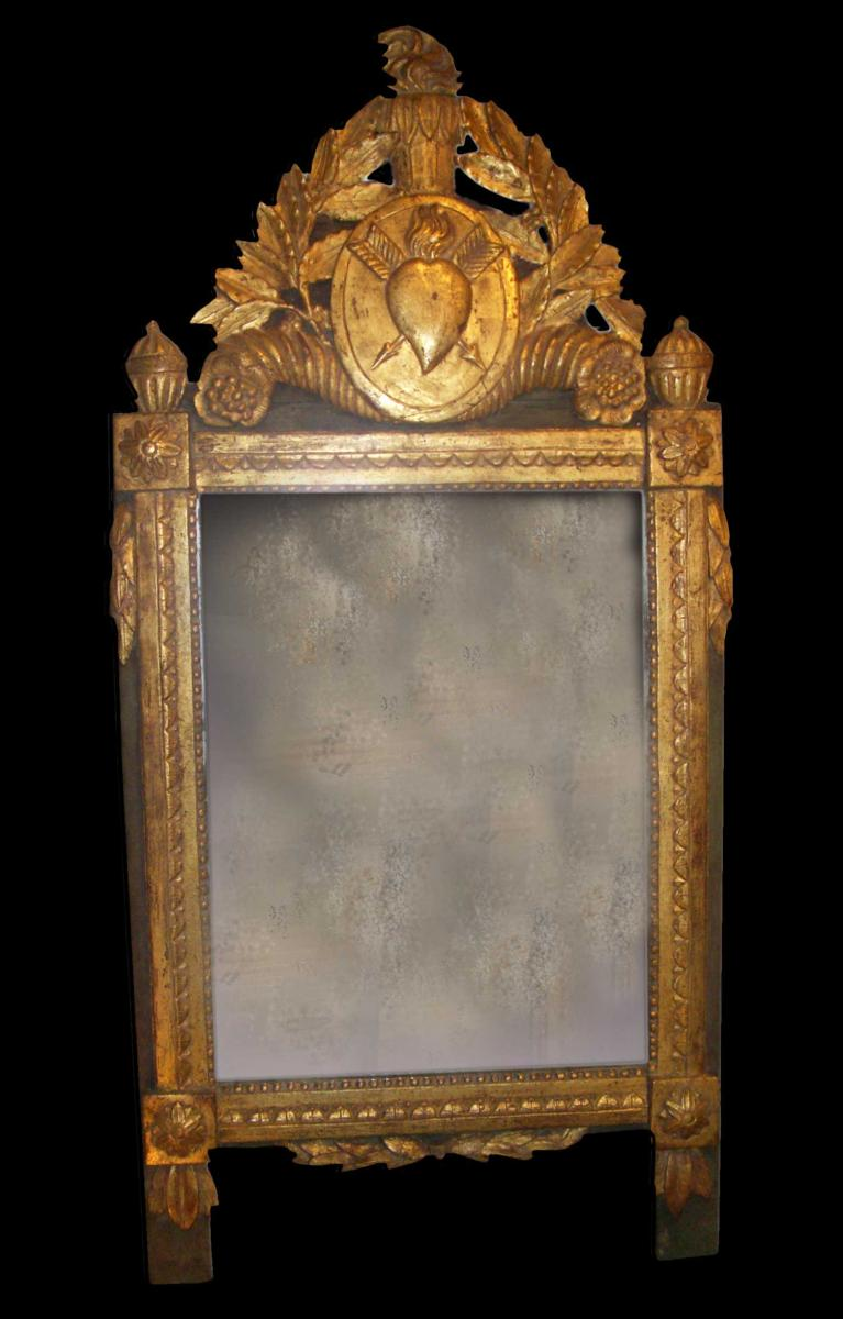 miroir louis xvi en bois dor miroirs. Black Bedroom Furniture Sets. Home Design Ideas