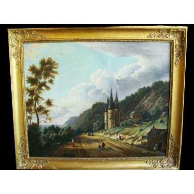 Paire de tableaux Henri Chevalier