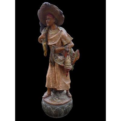 Sculpture, Terre Cuite Orientaliste.