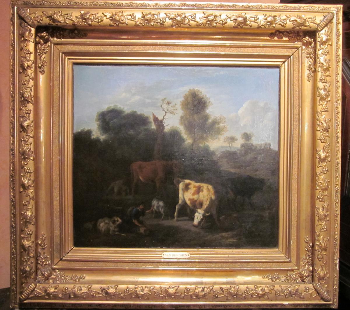 Huile sur toile, Ecole Hollandaise du XVIIème siècle
