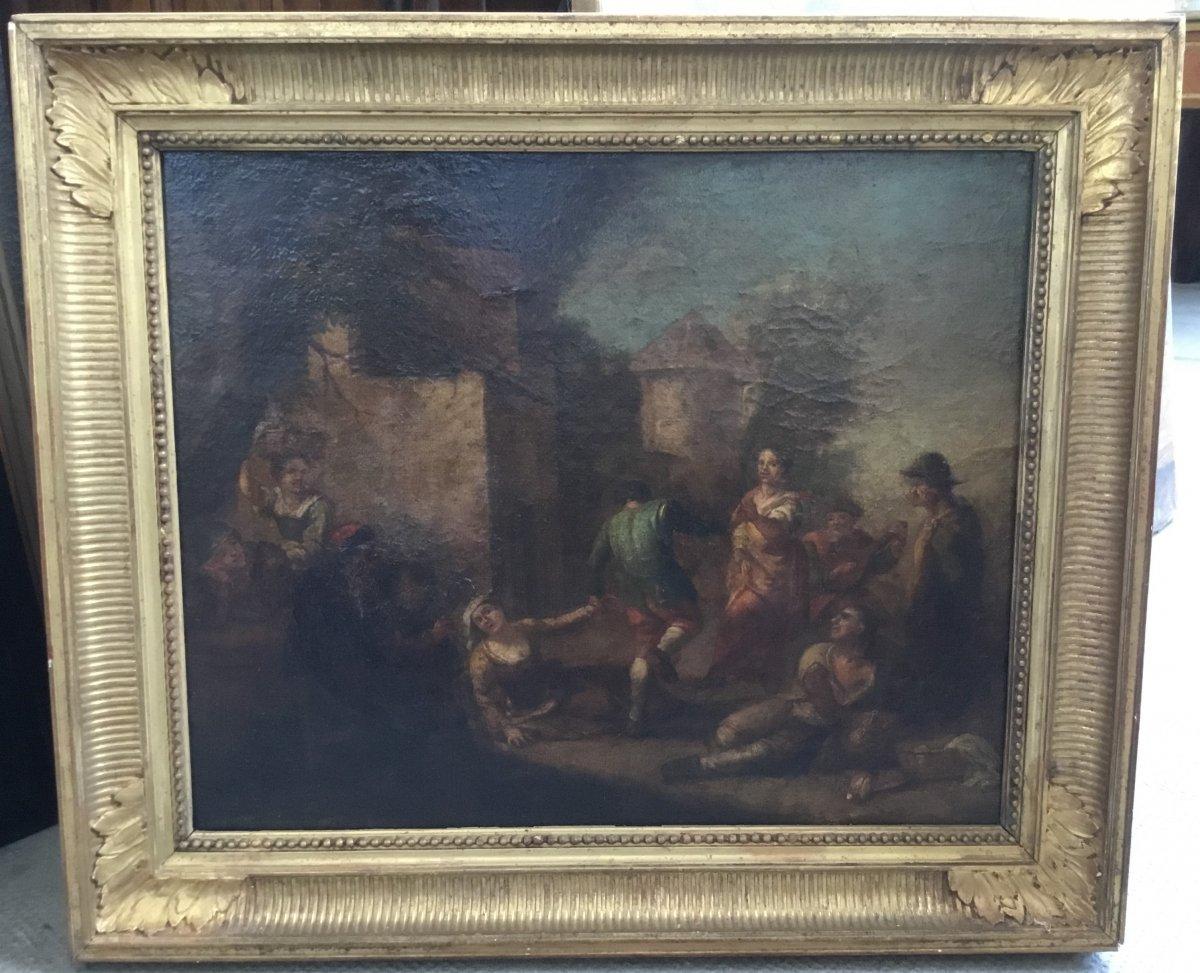 Fête au village, XVIIIème siècle