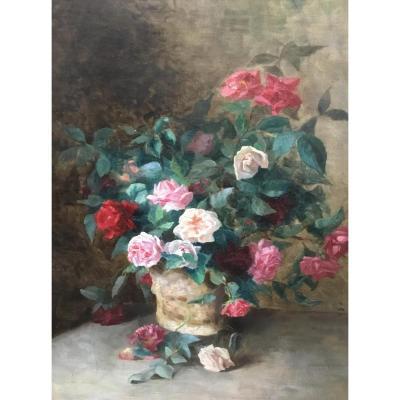 GODCHAUX Emile (1860-1938) - bouquet de roses