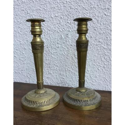 Pair Of Candlesticks Directoire Period