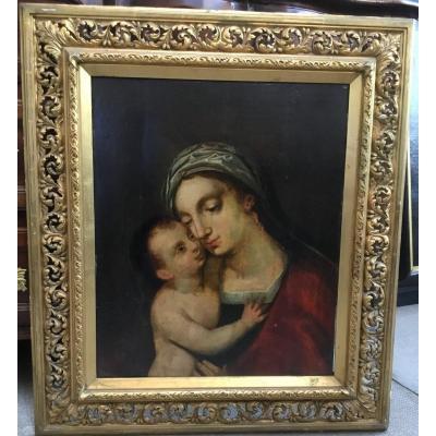 Vierge à l'Enfant, Italie, XVIIIe siècle