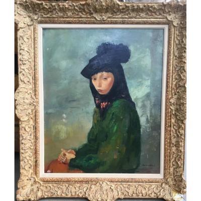 CORBELLINI Luigi (1901-1968) - Portrait de femme