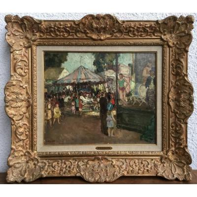 COSSON Marcel (1878-1956) - La fête foraine