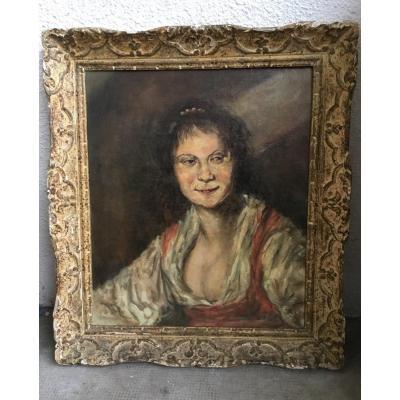 Rey (xxth Century) - Bohemian (after Frans Hals)