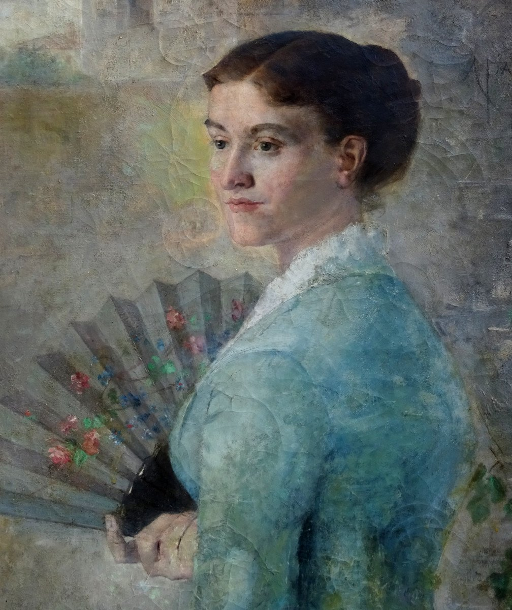 Alfred Pagès Portrait Of Woman French School From The End Of The XIXth Century Hst-photo-1