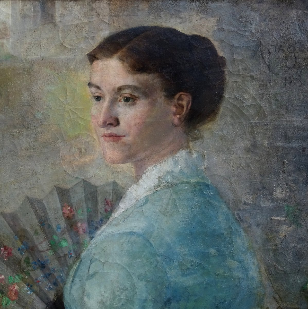 Alfred Pagès Portrait Of Woman French School From The End Of The XIXth Century Hst-photo-2