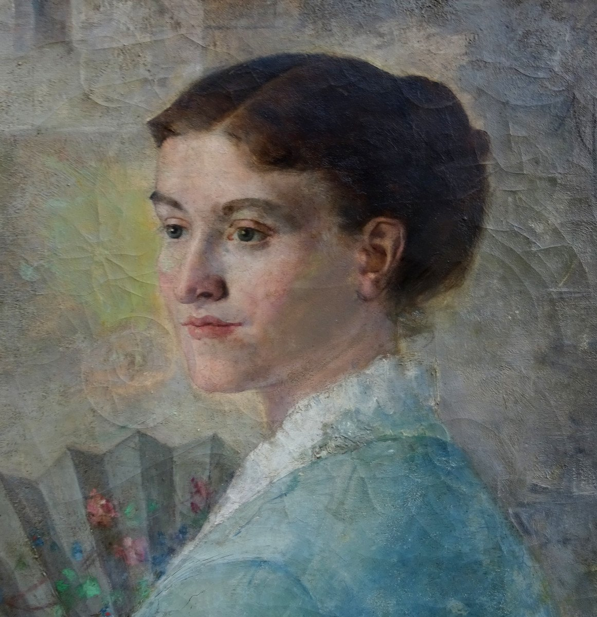 Alfred Pagès Portrait Of Woman French School From The End Of The XIXth Century Hst-photo-3