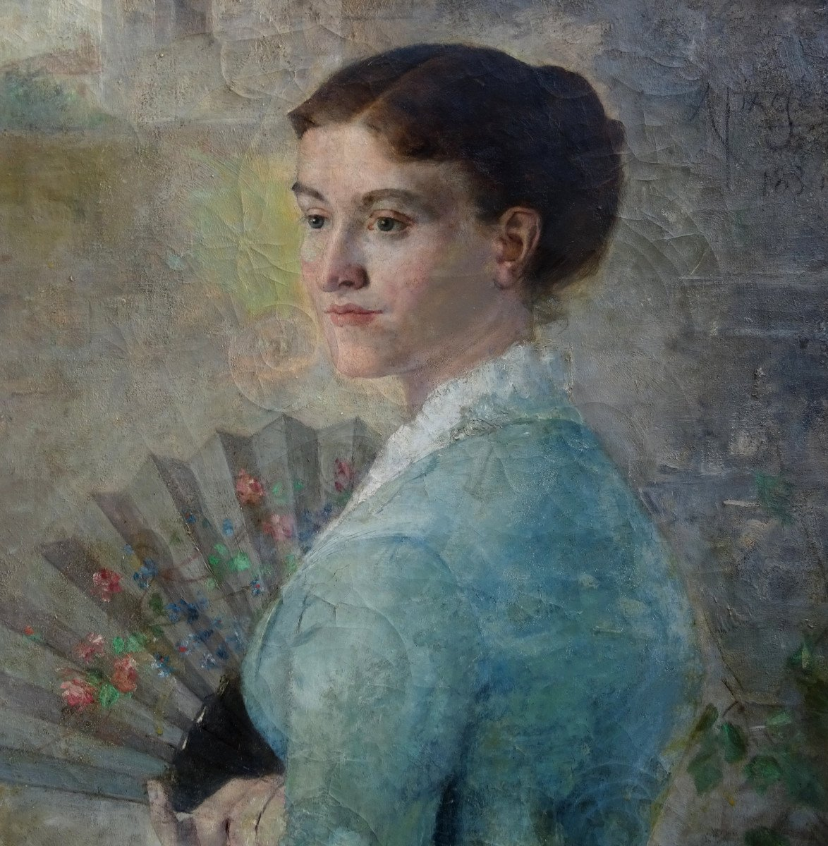 Alfred Pagès Portrait Of Woman French School From The End Of The XIXth Century Hst-photo-7