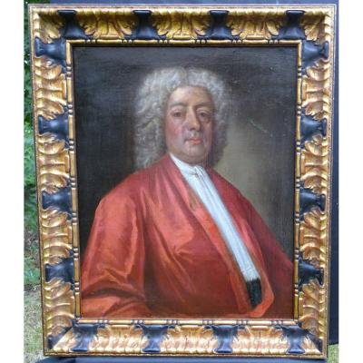 Portrait Of Man French School Of The Eighteenth Century Oil On Canvas