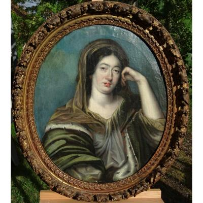 Portrait Of Madame De Maintenon French School Of The XVIIth Century Oil / Canvas