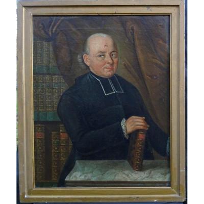 Colin Portrait De Pierre François Pouchelon H/t Ecole Française XVIIIème Siècle