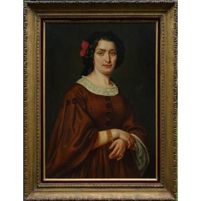 Leyat Portrait Of Woman Marie Faure Period Second Empire Hst From XIXth Century