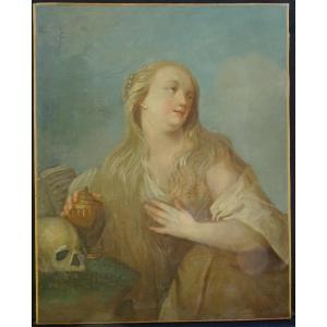 Portrait Of Woman Saint Mary Magdalene Penitent Hst From The Eighteenth Century