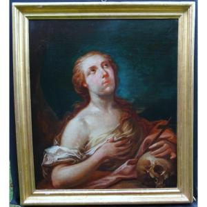 Portrait Of Woman Saint Mary Magdalene Penitent Hst End Of XVIIth Century