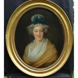 Portrait Of Woman Of Louis XVI Period French School Of The XVIIIth Century Hst