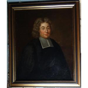 Portrait Of Ecclesiastic French School Of The Eighteenth Century Oil On Canvas