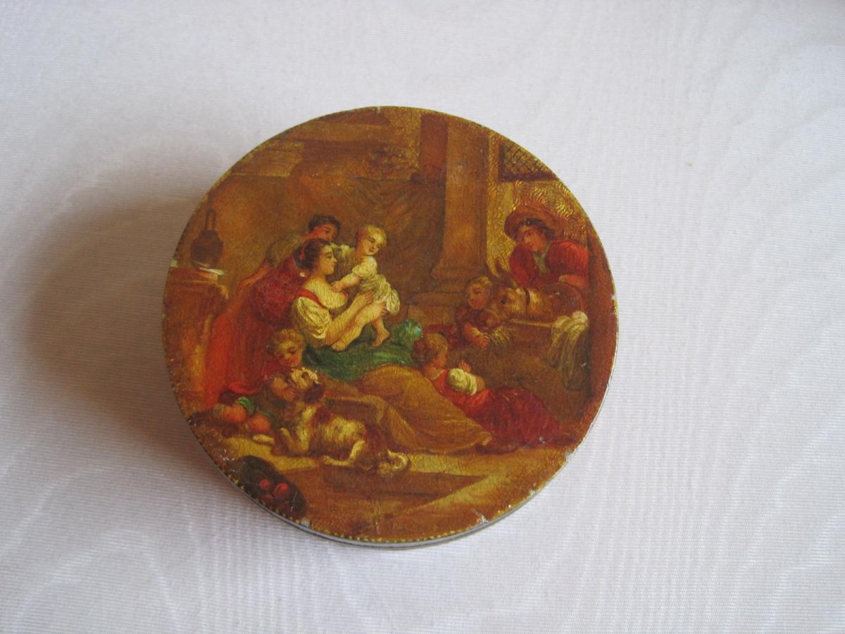 Boite Vernis Martin et Ecaille, XVIIIe