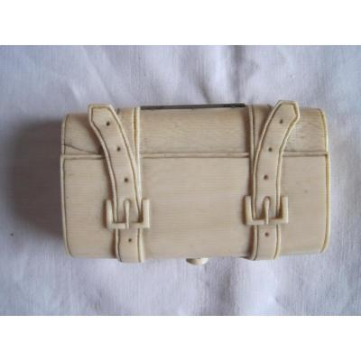 Ivory Snuffbox Shaped As A Suitcase, Twentieth Century