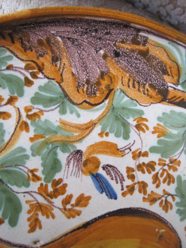 "Maiolica Dish On Foot  (""alzata"")  Painted With Birds And Foliage. Italy, XVIIth-photo-4"
