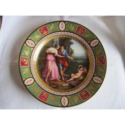 Porcelain Dish With Classic Scene Decoration, Vienna Nineteenth Century