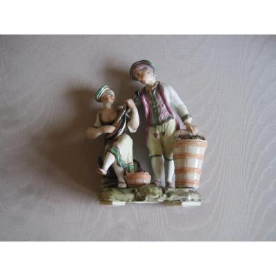 Groupe En Porcelaine De Ludwigsburg, XVIIIè Siécle