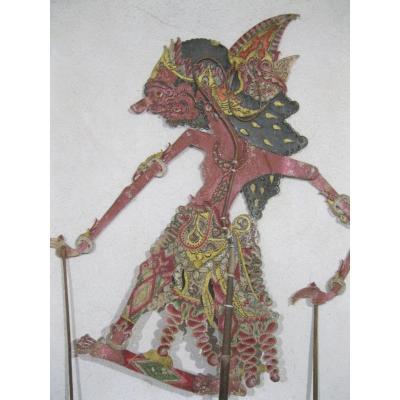 Marionnette De Théâtre d'Ombre Wayang Kulik - Indonésie  - XIXe