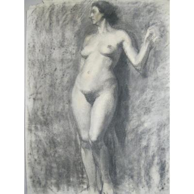 Grands Dessins - Études De Nus Féminin  - 1920-1940 - Art Déco - Double-face