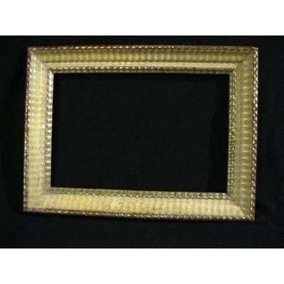 Frame In Wood And Stucco - Gilded And Painted - Mid 19th Century