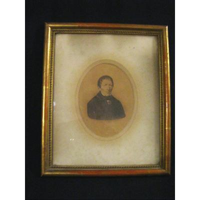 Frame In Wood And Stucco - Golden - Photographic Process - Lyon Middle 19th -