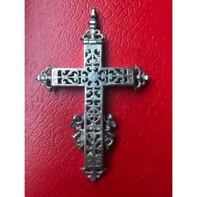 Reliquary Cross In Silver