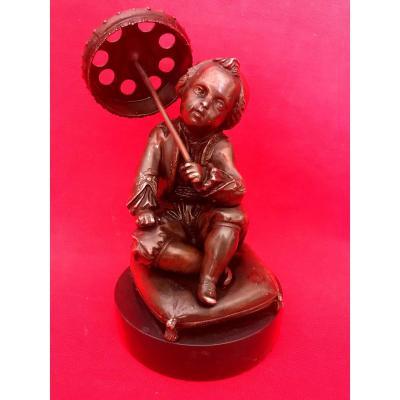 Statue En Bronze Enfant