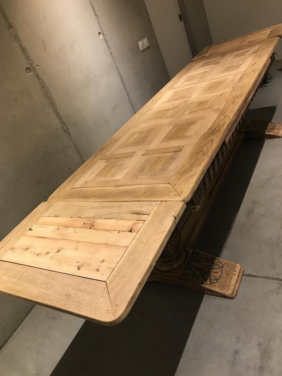 Table Enorme, à Rallonge Jusqu'à 3m20 Double Pied Pedestal