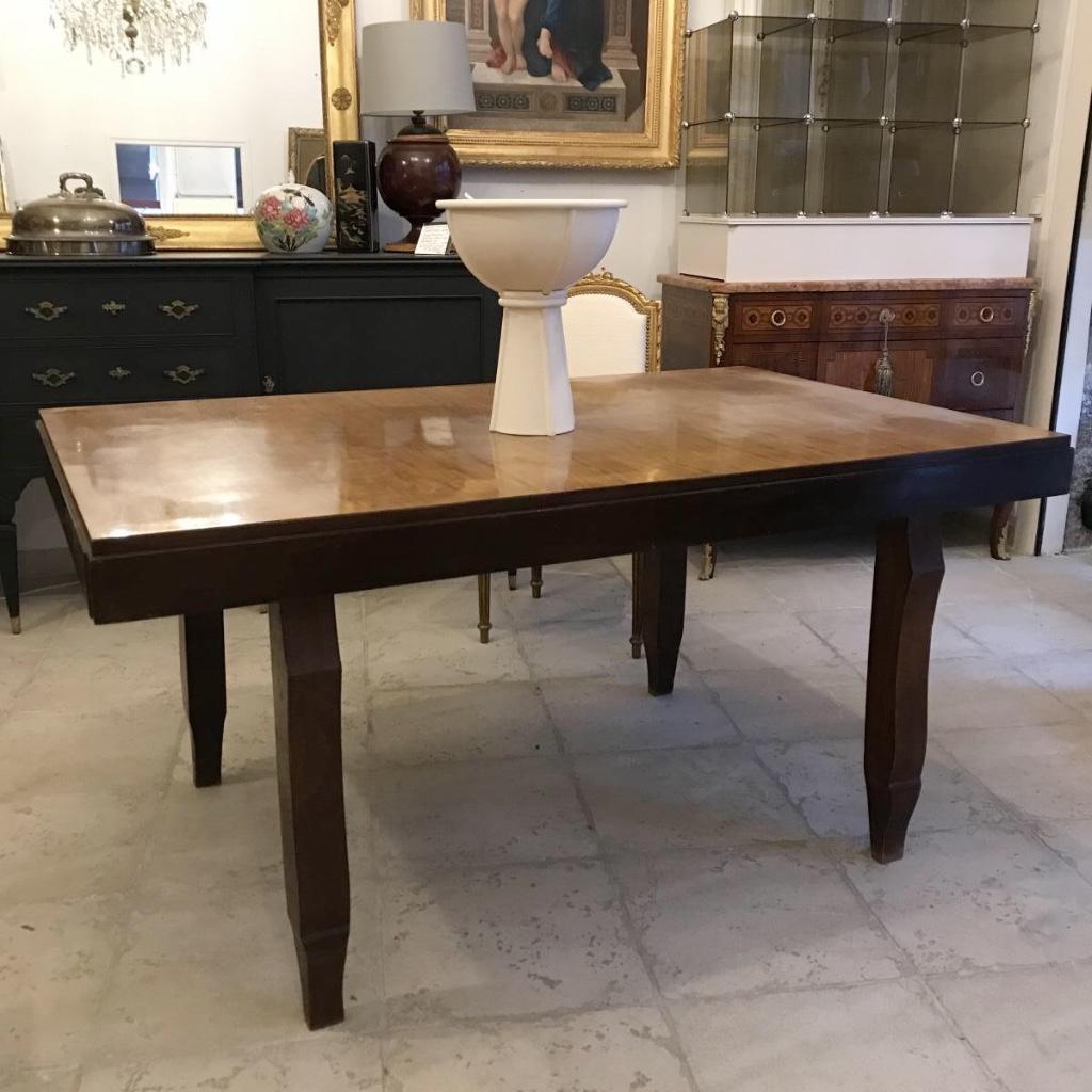 Grande Table à Rallonges Epoque Art Déco 154 à 224 cm