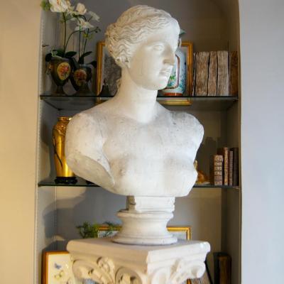 H 79 Cm, Large Bust, Plaster, End XIX