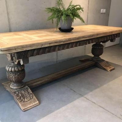 Extension Table 2m20 To 3m20 Double Foot Pedestal