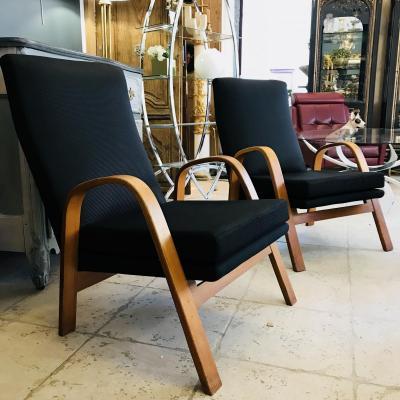 Paire fauteuils ARP Guariche, Motte et Mortier pour Steiner