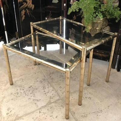 Duo Of Mirror Nesting Nesting Tables
